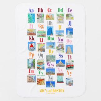 ABC Boston alphabet baby layette blanket