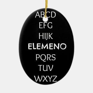 ABC CERAMIC ORNAMENT