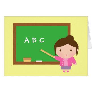 ABC Chalkboard, Thank You, Teacher Appreciation Card