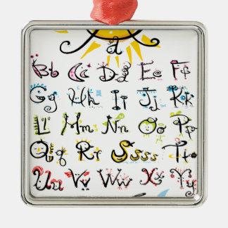 ABC chart Metal Ornament