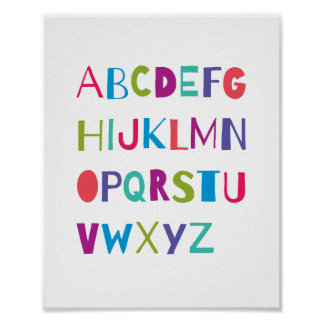 ABC Colorful Alphabet Nursery Art Wall Decor
