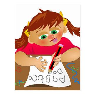 Abc Girl Postcard