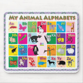 ABC: My Animal Alphabets Mouse Pad