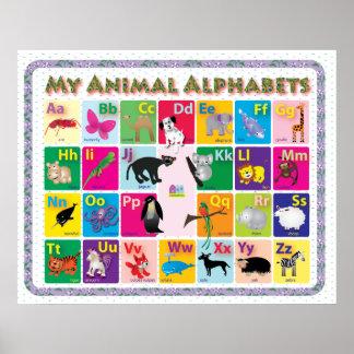 ABC: My Animal Alphabets Poster
