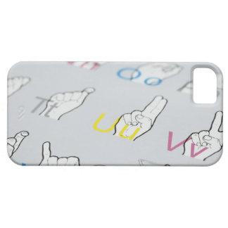 ABC of sign language iPhone 5 Cases