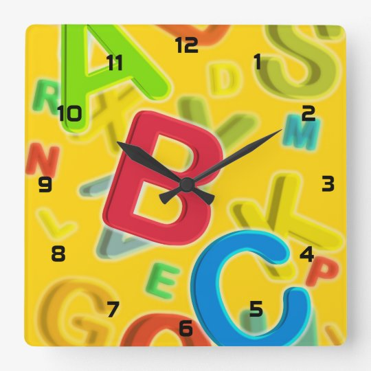 ABC SQUARE WALL CLOCK