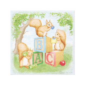 ABC Squirels Canvas Print