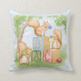 ABC Squirels Throw Pillow