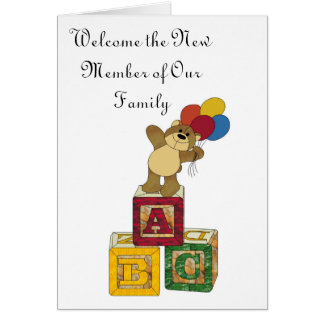 ABC, Welcome the New Member of Our Family Card