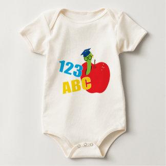 ABC Worm Baby Bodysuit