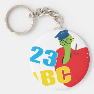 ABC Worm Keychain
