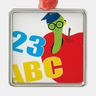 ABC Worm Metal Ornament