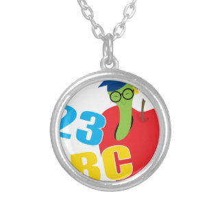 ABC Worm Silver Plated Necklace