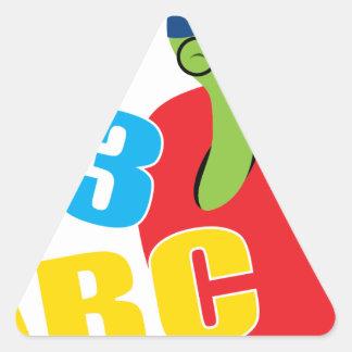 ABC Worm Triangle Sticker