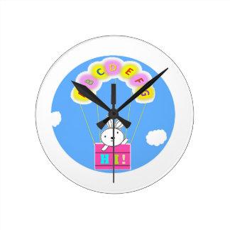 abcdefgHI! Round Clock