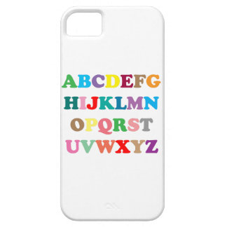 ABC's colorful letters Case For The iPhone 5