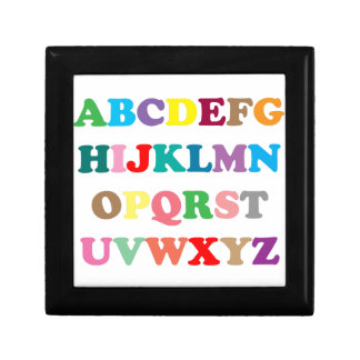 ABC's colorful letters Jewelry Boxes