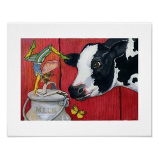 ABC's From The Whippety Wood - Dairy Fairy print