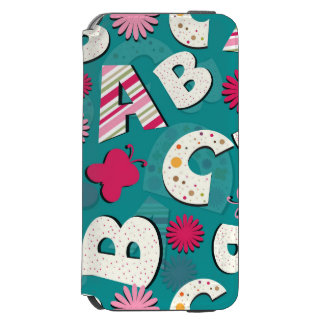 ABC's Pink & Blue Design Incipio Watson™ iPhone 6 Wallet Case