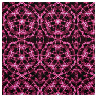 abctract circles dynamic pink mandala pattern fabric