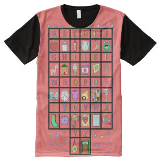 ABDL Alphabet all over | Adult Baby | Baby4life All-Over-Print T-Shirt