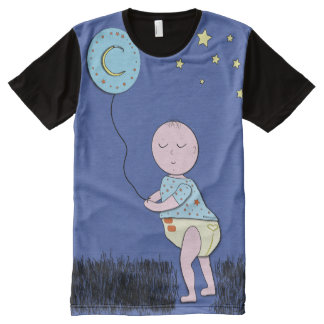 ABDL tee/Adult Baby Cute tee/Baby with Balloon