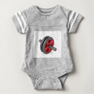 Abdominal toning wheel baby bodysuit