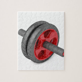 Abdominal toning wheel jigsaw puzzle
