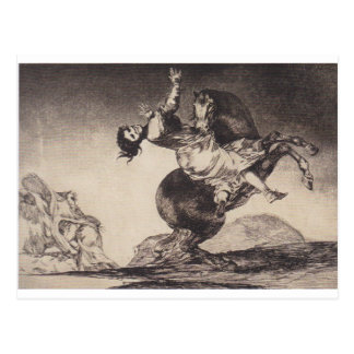 Abducting horse by Francisco Goya Postcard