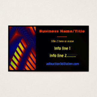 Abduction 3D Abstract PRINTING TECH GEEK MEDIA Business Card