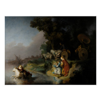 Abduction of Europa by Rembrandt Perfect Poster