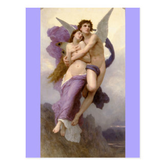 Abduction of Psyche - bouguereau Postcard