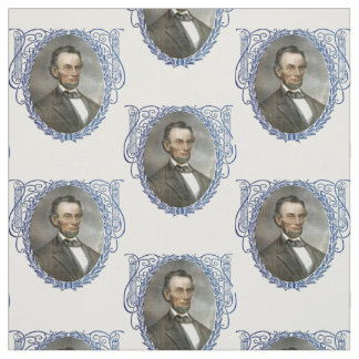Abe Abraham Lincoln American Republican President Fabric