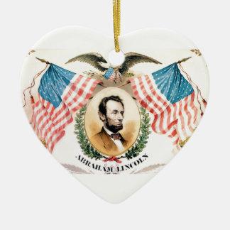 abe banner art ceramic ornament