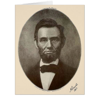 Abe Lincoln American President Vintage Portrait US Card