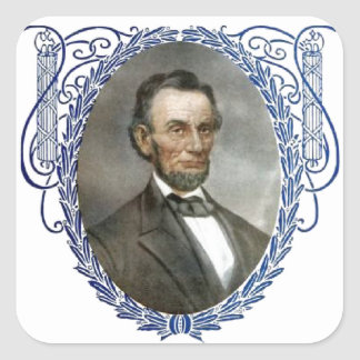 Abe Lincoln American President Vintage Portrait US Square Sticker