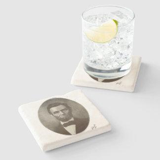 Abe Lincoln American President Vintage Portrait US Stone Beverage Coaster