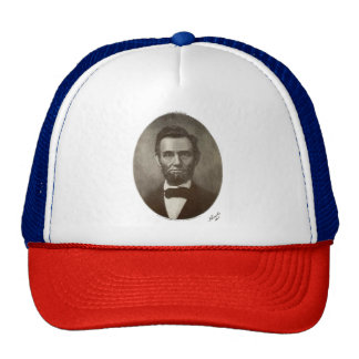 Abe Lincoln American President Vintage Portrait US Trucker Hat