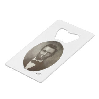 Abe Lincoln American President Vintage Portrait US Wallet Bottle Opener