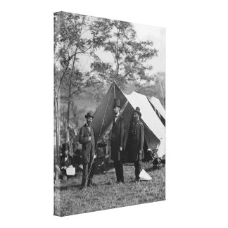Abe Lincoln and A. Pinkerton battlefield Antietam Canvas Print