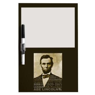 Abe Lincoln Dry Erase Whiteboard