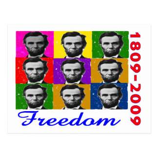 Abe Lincoln FREEDOM 1809 2009 Unique Gifts Postcard