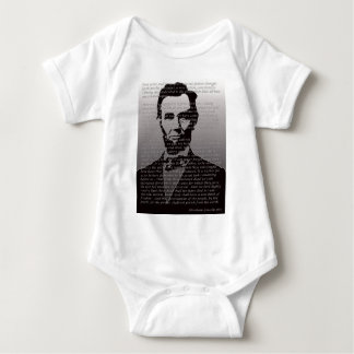 Abe Lincoln Gettysburg Address Baby Bodysuit