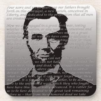 Abe Lincoln Gettysburg Address Drink Coasters