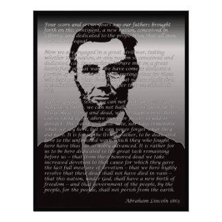 Abe Lincoln Gettysburg Address Letterhead Design