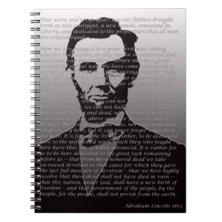 Abe Lincoln Gettysburg Address Notebook