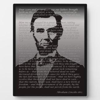 Abe Lincoln Gettysburg Address Photo Plaques