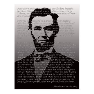 Abe Lincoln Gettysburg Address Postcard