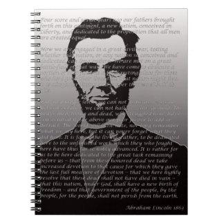 Abe Lincoln Gettysburg Address Spiral Note Books