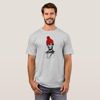 Abe Lincoln in a Beanie T-Shirt
